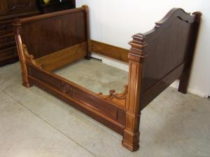 Venta de cama antigua restaurada tienda antiguedades online - Cama antigua de madera ...