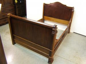 Venta de cama antigua restaurada tienda antiguedades online - Camas de madera antiguas ...