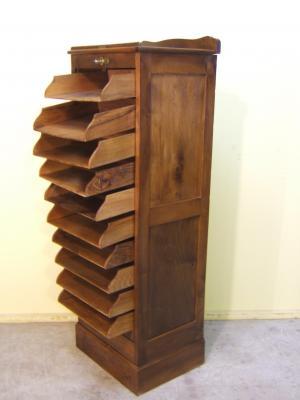 Venta de archivador antiguo tienda antiguedades online - Archivadores de madera ...