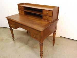 Mesa escritorio antigua de cerezo restaurada muebles - Mesas de escritorio antiguas ...