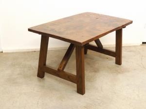 Venta de mesa antigua de olmo tienda antiguedades online for Mesas de centro antiguas