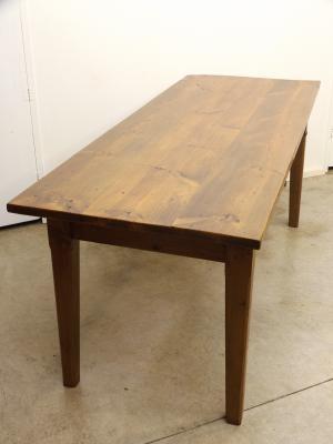 Mesa antigua de madera de pino muebles antiguos y - Mesas antiguas de cocina ...