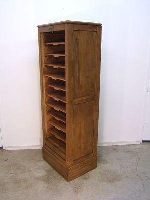 Archivador antiguo de persiana restaurado muebles - Archivadores de madera ...