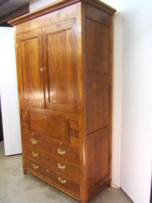 Venta de armario antiguo de cerezo tienda antiguedades online - Armarios antiguos restaurados ...
