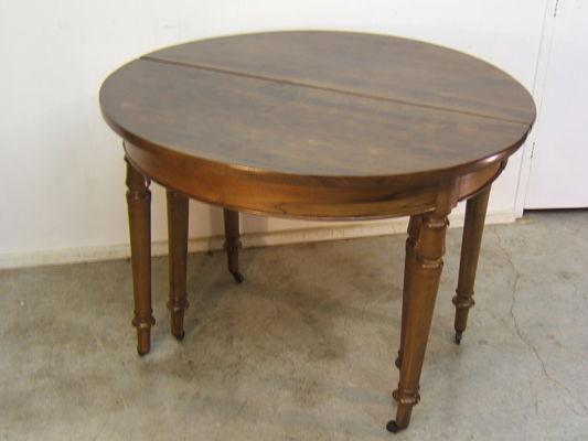 Venta de mesa redonda antigua tienda antiguedades online for Mesa madera antigua