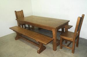 mesas rusticas roble