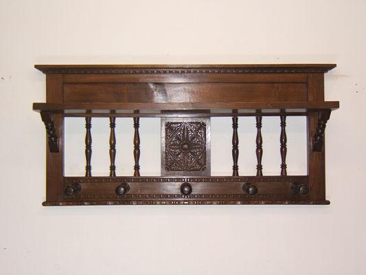 Venta de perchero de pared antiguo tienda antiguedades online - Perchero madera pared ...