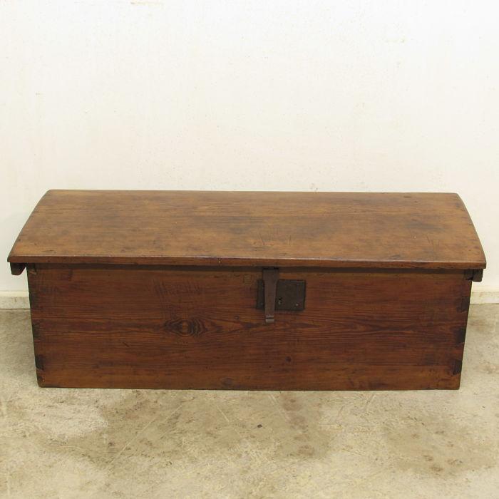 baúl antiguo de madera 27617