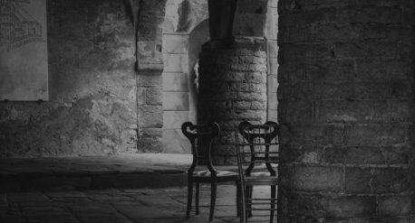 Zumadia-silla antigua-plegable pintada