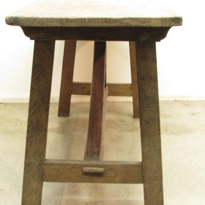 Mesa r stica de refectorio muebles antiguos y r sticos a for Mesas antiguas rusticas