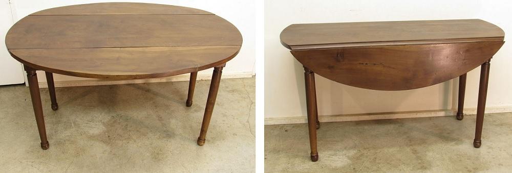 Mesa redonda antigua extensible muebles antiguos zumadia - Mesa comedor antigua ...