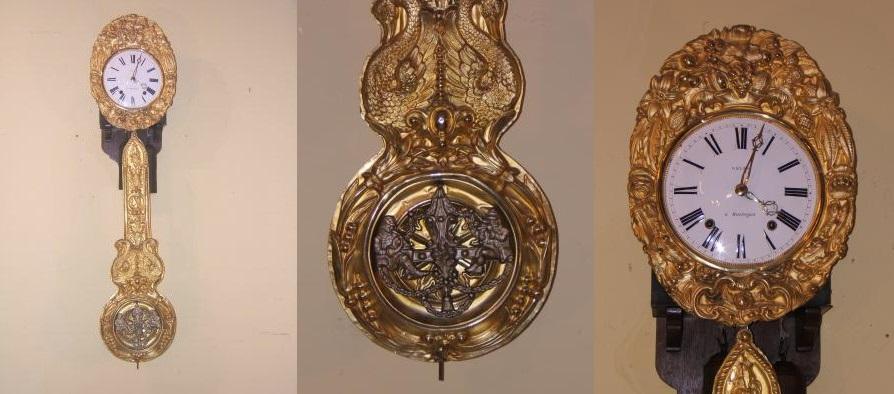 Zumadia-Reloj antiguo de péndulo real