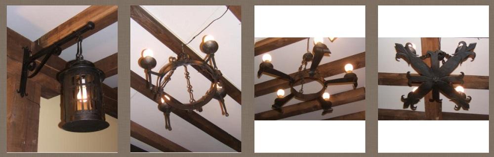 Zumadia lamparas techo forja