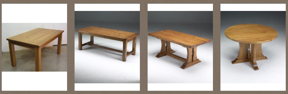 Zumadia mesas rústicas