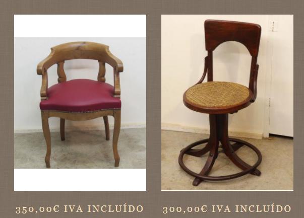 Zumadia sillas escritorio antiguas