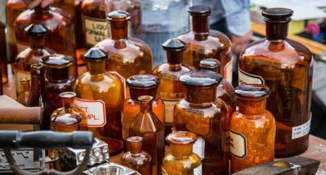 Zumadia antiguas botellas farmacia
