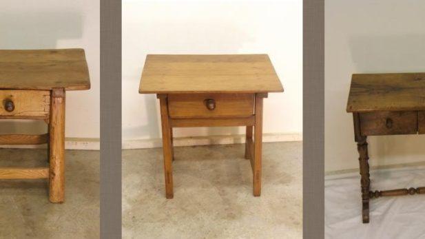 Zumadia usos mesas auxiliares restauradas