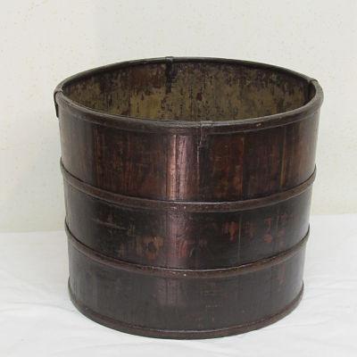 cubo antiguo de madera 19418