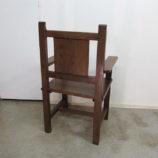 sillón antiguo de madera restaurado 19418