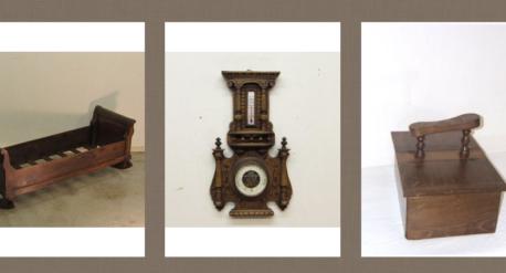 Objetos antiguos de madera