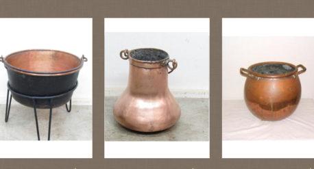 Objetos antiguos de cobre
