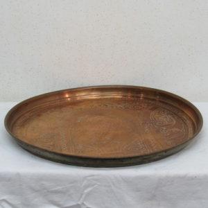 bandeja antigua de cobre