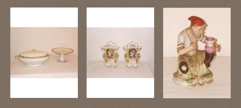 Objetos de porcelana antigua