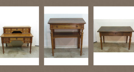 mesas de escritorio antiguas
