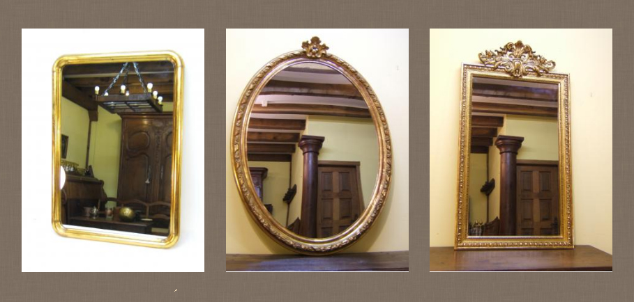 Espejos antiguos dorados