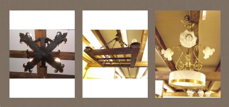 Lámparas antiguas de techo