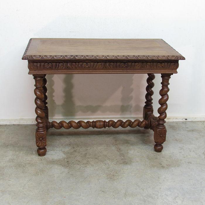 mesa antigua tallada 15519