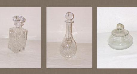 Objetos antiguos de cristal